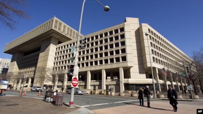 FILE - The Federal Bureau of Investigation headquarters in Washington.