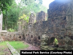Cinnamon Bay Sugar Plantation Ruins in the Virgin Islands National Park