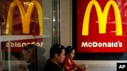 Restaurante McDonald's en Hong Kong. Las ventas a nivel mundial han caído un 3%.
