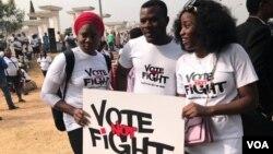 تجمع گروهی از مردم پایتخت نیجریه در حمایت از انتخابات سالم و مسالمت آمیز