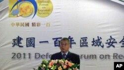 台湾国防部副部长杨念祖在国防论坛开幕式致词