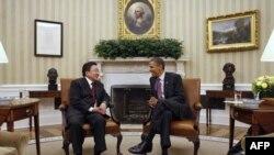 Цахиагийн Элбэгдорж и Барак Обама