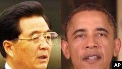 오바마 대통령(우)과 후진타오 주석