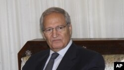 Syrian Vice President Farouk Al-Sharaa in Damascus, Sunday, August 26, 2012.