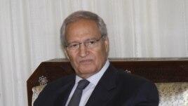 Syrian Vice President Farouk Al-Sharaa in Damascus, Sunday, August 26, 2012.