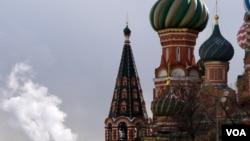 莫斯科圣瓦西里大教堂。(美国之音德特默拍摄)