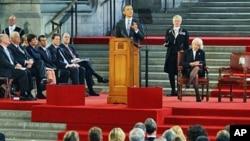 Le présdient Obama à Westminster Hall, siège du Parlement britannique