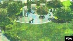 샌프란시스코 프리시디오 국립묘지에 세워질 한국전쟁 참전 기념비 임시 조감도