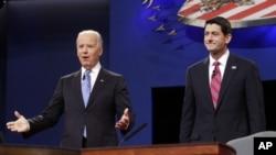جو بایدن معاون رییس جمهور ایالات متحده و پال راین کاندید معاونیت ریاست جمهوری از سوی جمهوریخواهان