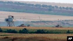Des tanks turcs prés de la frontière syrienne, 23 juillet 2015