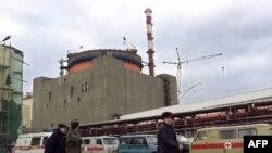 Ростовская АЭС под Волгодонском, первая построенная после распада СССР АЭС. Снимок сделан 20 февраля 2001 г.