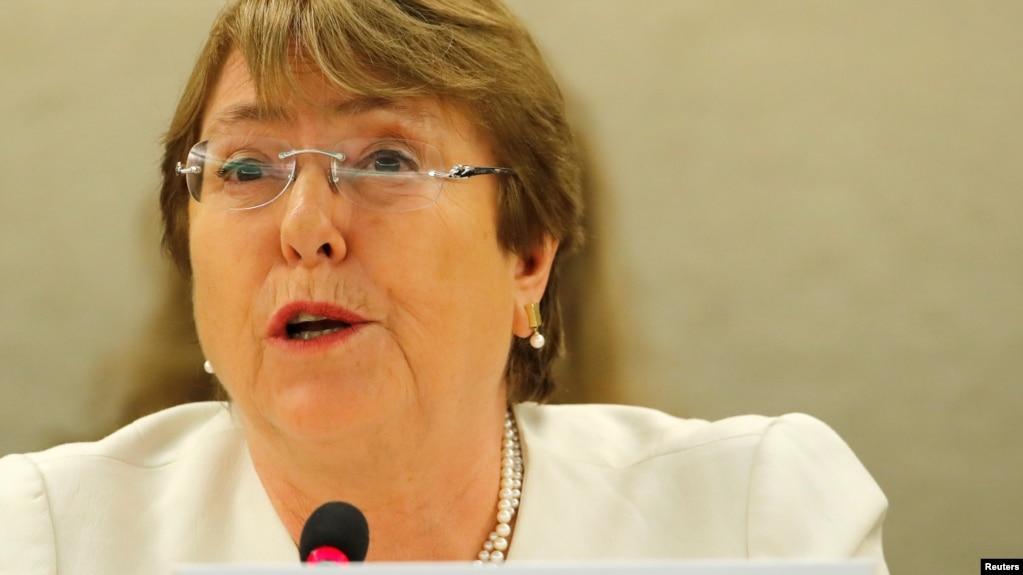 Tân Cao ủy trưởng nhân quyền Liên hiệp quốc Michelle Bachelet tham dự Hội đồng Nhân quyền ở Geneva, Thụy Sĩ, ngày 10/9/2018.