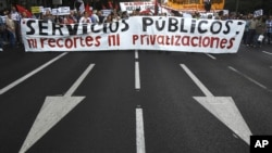 Protesti protiv mera štednje u Španiji