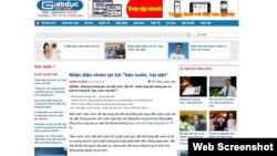 """Bài viết """"Nhận diện nhóm lợi ích 'bán nước, hại dân'"""" trên Báo Giáo dục Việt Nam."""