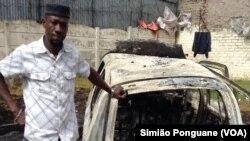 Obian Kenneth, imigrante nigeriano, teve carro queimado, Rosenttenville