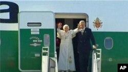 教宗抵達墨西哥展開訪問。