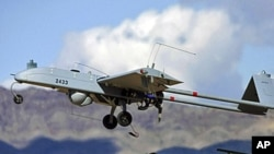 """An unarmed U.S. """"Shadow"""" drone is launched (File)"""
