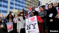 Протест іммігрантів із Гаїті в Нью-Йорку, 21 листопада 2017 року