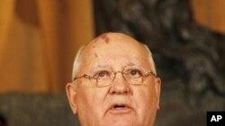 Former Soviet leader Mikhail Gorbachev, November 30, 2011.