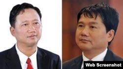 Ông Trịnh Xuân Thanh và ông Đinh La Thăng là 2 trong số những lãnh đạo ngành dầu khí Việt Nam sẽ bị đưa ra xét xử trong chiến dịch chống tham nhũng của TBT Nguyễn Phú Trọng. (Ảnh chụp từ VTV)
