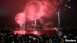 Celebración del Día de la Independencia en Nueva York.