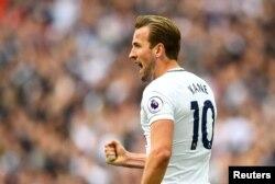 Le joueur de Tottenham, Harry Kane, à Londres, le 13 mai 2018.