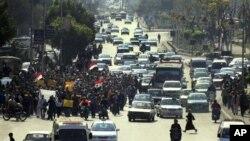 2月11日埃及抗议者走上开罗大街