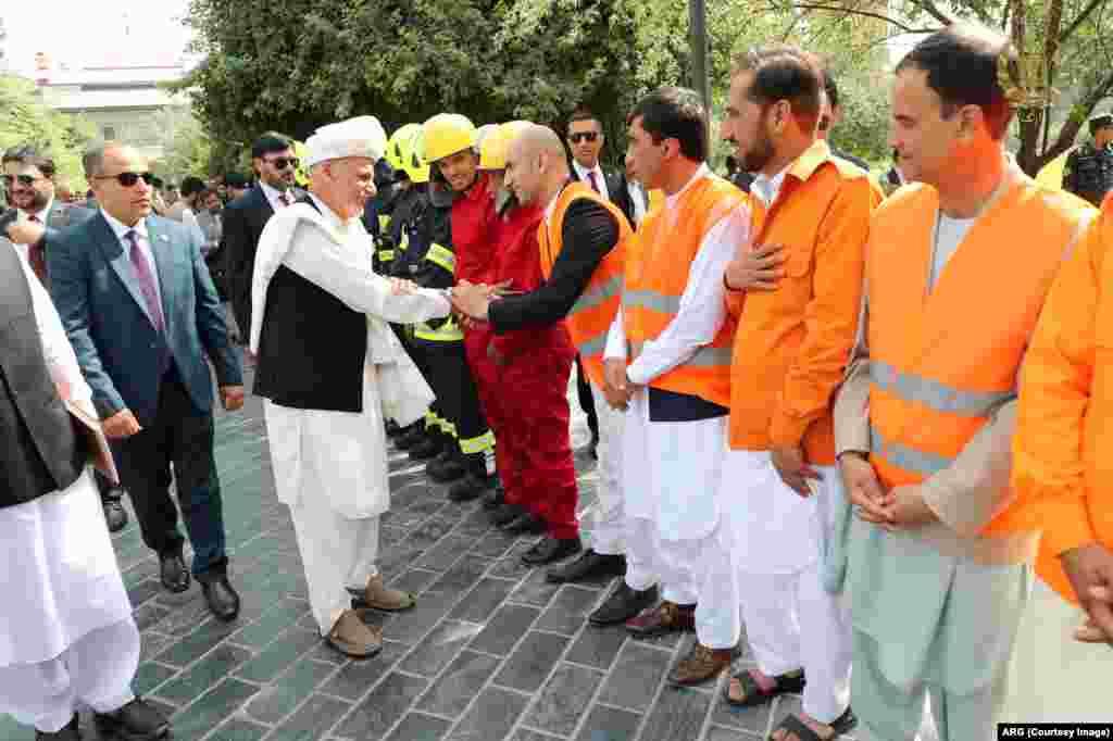 تجلیل از عید در ارگ ریاست جمهوری افغانستان