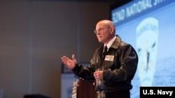 美國海軍作戰部長吉爾代上將(Michael Gilday)2020年1月14日出席年度水面艦隊研討會(美國海軍照片)