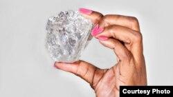 Berlian 1.111 karat yang ditemukan di Botswana (foto: dok).