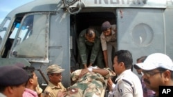 Vojni povredjen u napadu u istočnoj indijskoj državi Bihar, 10. aprila 2014.