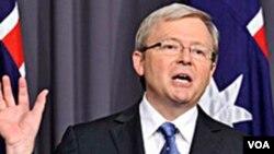 El canciller auustraliano, Kevin Rudd, hizo las declaraciones tras la detención de Julian Assange.