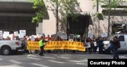 罗列街道的示威队伍(李竟芬提供)