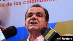 El candidato la presidencia de Colombia por el movimiento Centro Democrático, Oscar Iván Zuluaga.