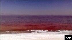 Urmiyə gölü qırmızı rəngə bürünüb