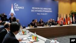 八国集团外长在巴黎开会,讨论设立利比亚禁飞区