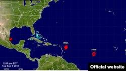 Jose podría convertirse en huracán el jueves.