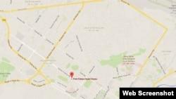 """阿富汗首都喀布尔""""公园宫殿""""宾馆的位置"""