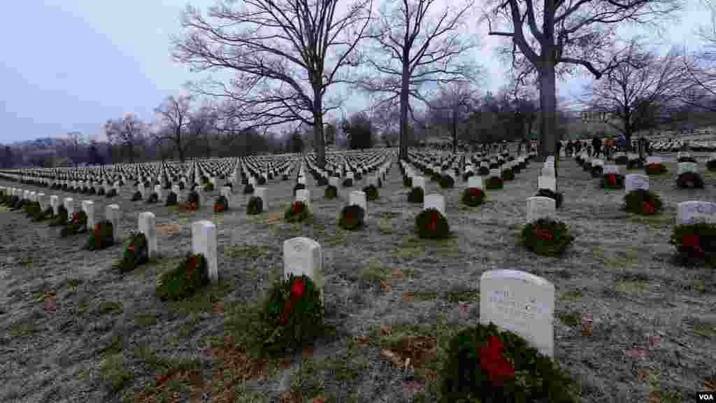 К тысячам надгробных плит волонтеры возложили венки