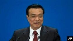Perdana Menteri baru China, Li Keqiang dalan konferensi pers seusai Kongres Partai Nasional di Beijing (17/3).