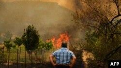 ترکی کے جنگلات میں خوف ناک آگ