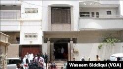 سبیکا کی کراچی میں واقع رہائش گاہ کا ایک منظر