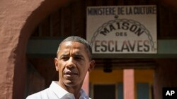 Rais Barack Obama baada ya kuzuru kisiwa cha Goree,Senegal, June 27, 2013.