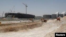 카타르 수도 도하의 건설 현장 (자료사진)