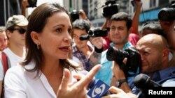 Después de participar en una reunión en la OEA, la Asamblea Nacional de Venezuela le prohibió seguir ejerciendo su cargo de diputada y la acusó de traición a la patria.
