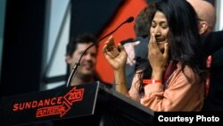 "Director, Kalyanee Mam's film ""A River Changes Course"" about her native country, Cambodia, wins the 2013 Sundance Film Festival's Grand Jury Prize for World Cinema Documentary at the Awards Ceremony on Saturday, January 26th in Park City, Utah."