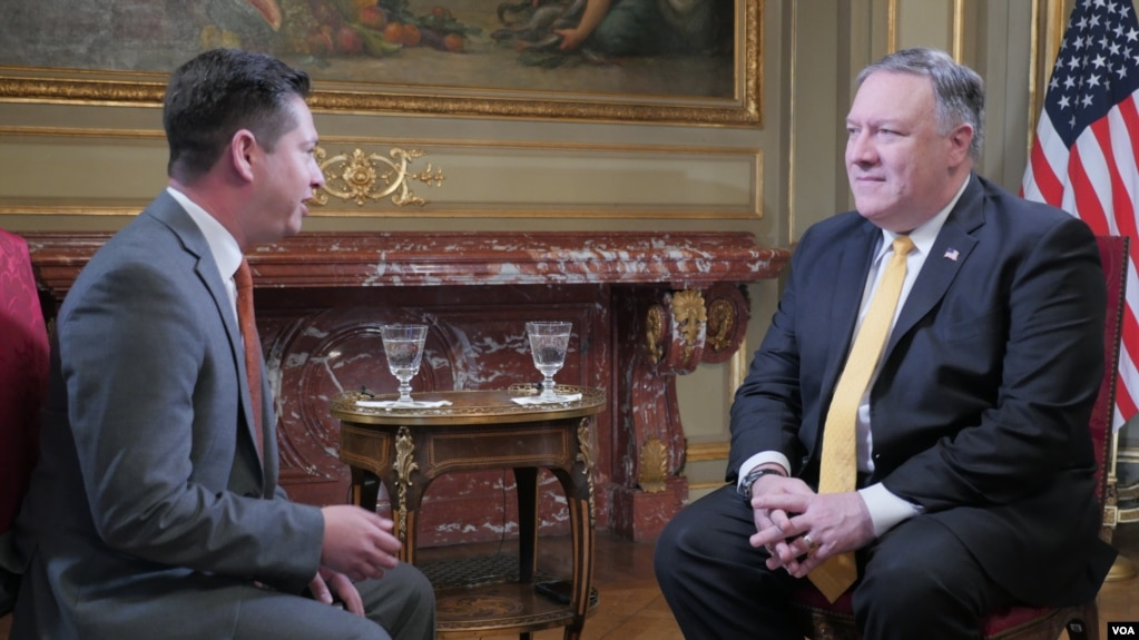 VOA Interviews US Secretary of State Mike Pompeo at G-20