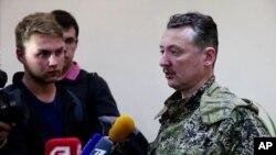 Игорь Стрелков на пресс-конференциии в Славянске, Украина, 27 апреля 2014г.