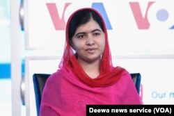 "VOA's Deewa Service hosted an event at the Newseum called ""Malala: Our time. Our place. Our moment in the human race"" featuring Malala Yousafzai and her father, Ziauddin Yousafzai, Aug. 30, 2015."