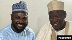 Adam A. Zango da gwamnan jihar Kano Abdullahi Umar Ganduje (Instagram/ Adam A. Zango